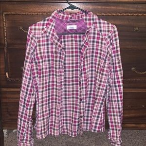 Columbia Omni-Shade plaid long sleeve shirt